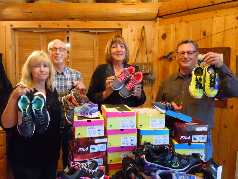 Shoes for kids at Shady Cove Elementary